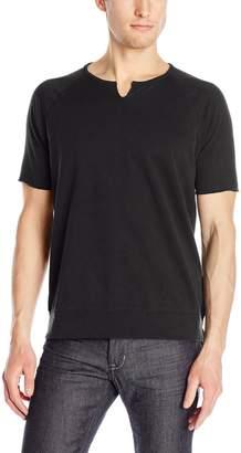 John Varvatos Men's Short Sleeve Raglan Sweatshirt