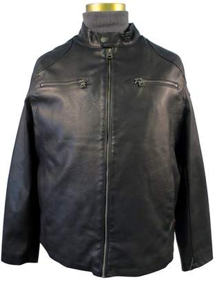 Levi's Men's Faux Leather Racer Jacket with 2 Zipper Chest Pockets