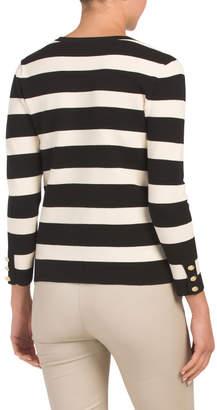 Striped Cardigan Topper