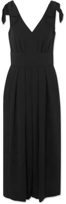 J.Crew Jalopy Bow-embellished Crepe Jumpsuit - Black