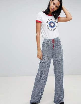 Pepe Jeans Samantha Printed Wide Leg Pants