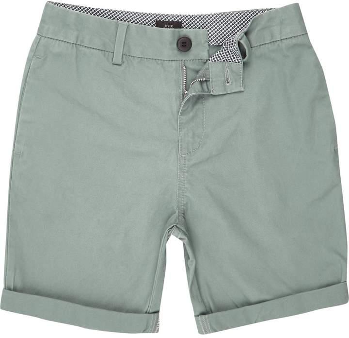 Boys Green chino shorts