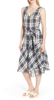 Nordstrom Signature Faux Wrap Plaid Dress