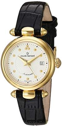 Claude Bernard Women's 'Mini Collection' Swiss Automatic Gold-Tone and Leather Dress Watch