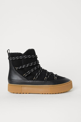 H&M Lined Boots - Black