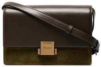 Saint Laurent Green Bellechasse medium suede and leather satchel