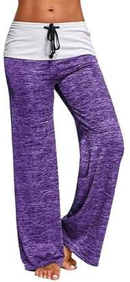 Jiayiqi Women Yoga Pants Wide Leg Long Pants Loose Fit Trousers 2XL