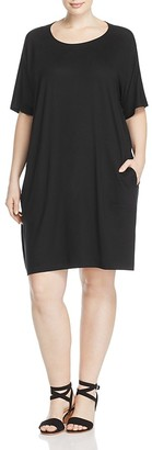 Eileen Fisher Plus Round Neck Tee Dress $198 thestylecure.com
