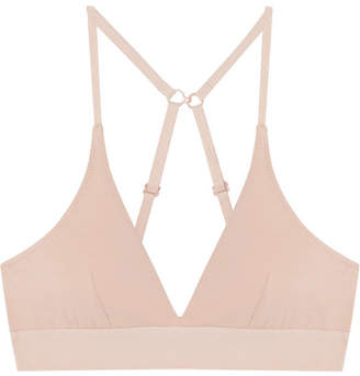 Skin - Hadlee Stretch Organic Pima Cotton-jersey Triangle Bra - Beige