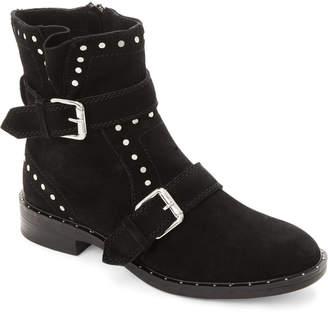 Steve Madden Steven By Black Zephyr Studded Suede Ankle Boots