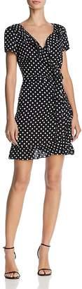 Aqua Polka Dot Wrap Dress - 100% Exclusive