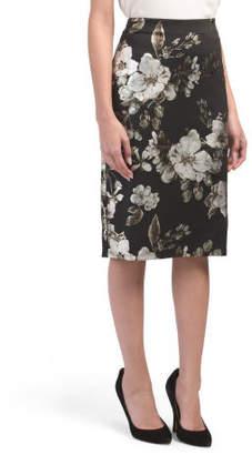 Foil Printed Scuba Skirt
