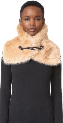 Carven Faux Fur Scarf $140 thestylecure.com