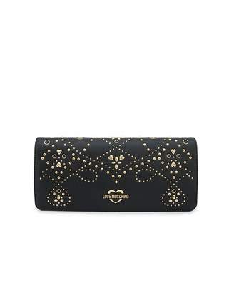 Love Moschino Accessories Studded Clutch Bag Colour: BLACK, Size: One