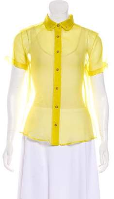 Harvey Faircloth Organza Short Sleeve Top