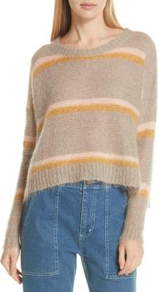 Apiece Apart Mirthe Stripe Wool & Mohair Blend Sweater