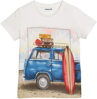 Mayoral Surf Van Short-Sleeve T-Shirt, Size 4-7