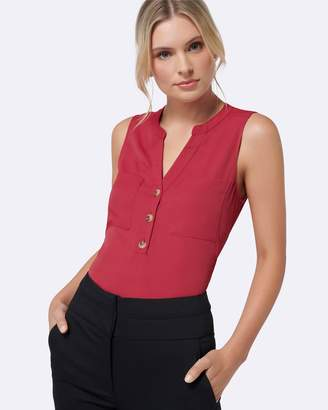 Forever New Mabel Button Front Essential Top