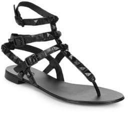 Ash Mumbaia Leather Stud Sandals
