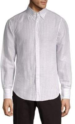 Brunello Cucinelli Striped Button-Down Shirt