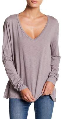 Michael Stars V-Neck Boyfriend Long Sleeve Tee