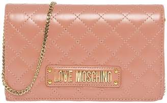 Moschino Chain Shoulder Strap Clutch Bag