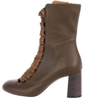 Chloé Harper Leather Ankle Booties