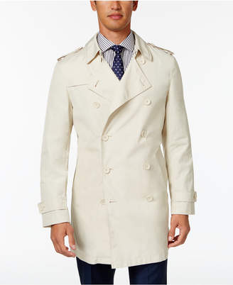 Calvin Klein Men's Slim Fit Double-Breasted Raincoat