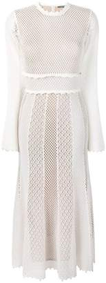 Alexander McQueen long-sleeved backless mesh dress