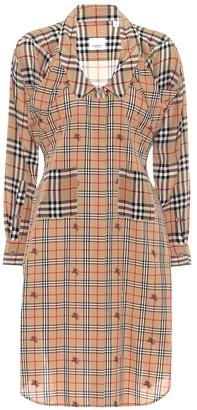 Burberry Checked silk shirt dress