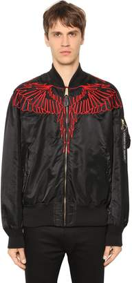 Marcelo Burlon County of Milan Alpha Ma-1 Red Wing Nylon Bomber Jacket