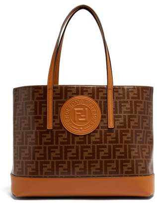 Fendi Ff Coated Canvas Tote Bag - Womens - Tan Multi