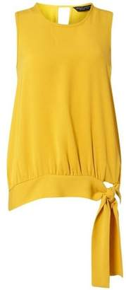 Dorothy Perkins Womens Yellow Sleeveless Tie-Side Top