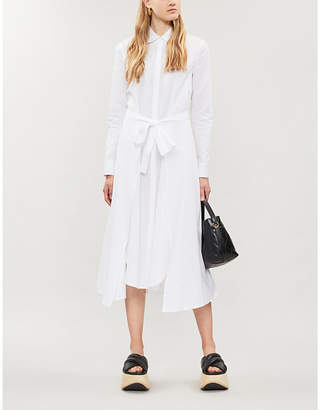 Rosetta Getty Apron-front cotton-poplin shirt dress