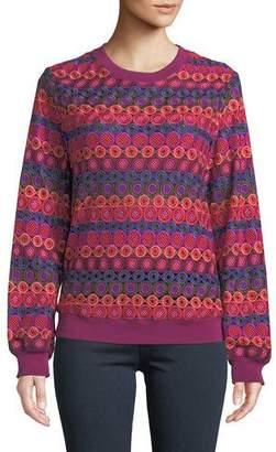 Trina Turk Marita Bubble Knit Long-Sleeve Top