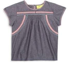 Toddler's, Little Girl's & Girl's Evie Shirred Cotton Top