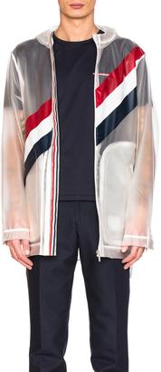 Thom Browne Diagonal Stripe Packable Rain Coat $2,490 thestylecure.com