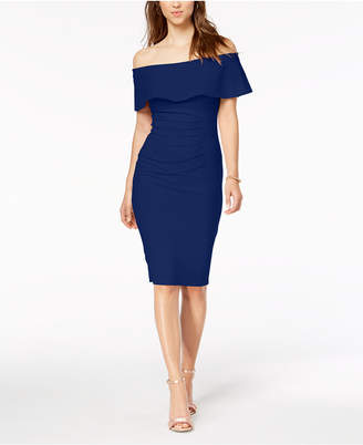 Xscape Evenings Off-The-Shoulder Sheath Dress