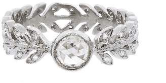 Cathy Waterman Moghul Diamond Wheat Ring Band - Platinum
