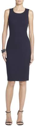 St. John Milano Pique Knit Sheath Dress