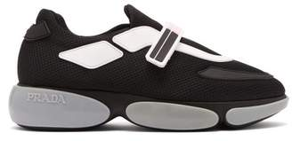 Prada Cloudbust Low Top Mesh Trainers - Womens - Black Pink