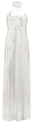 Galvan Galaxy Sequinned Halterneck Dress - Womens - Silver
