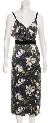 Cinq à Sept Floral Midi Dress