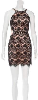 Jay Godfrey Lace Cut Out Mini Dress
