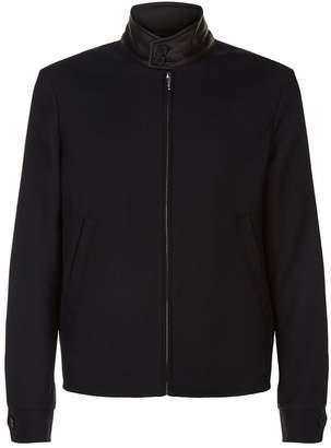 Sandro Leather Collar Jacket