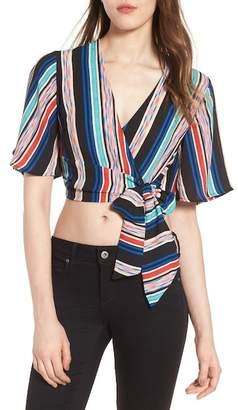 Lush Stripe Wrap Crop Top