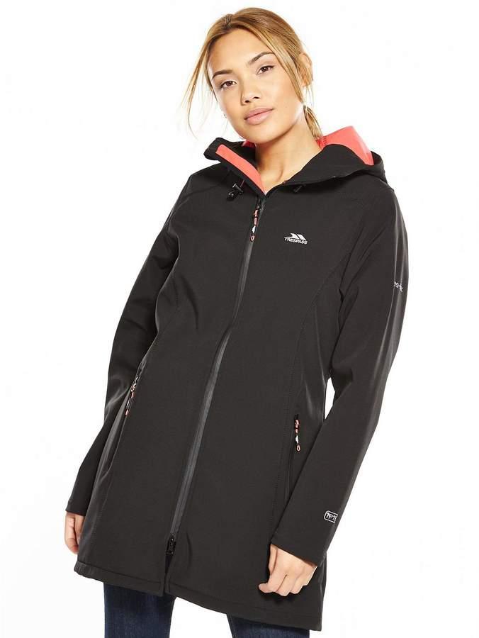 Kitsy Longline Softshell Jacket - Black