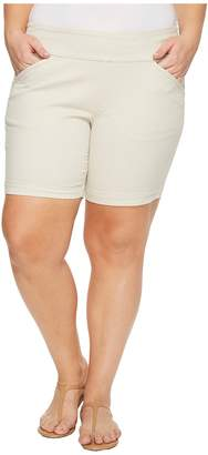 Jag Jeans Plus Size Ainsley Divine Twill Pull-On 8 Shorts in Stone Women's Shorts