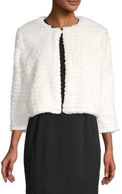 Calvin Klein Cropped Faux-Fur Jacket