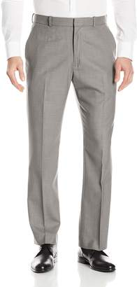 Perry Ellis Men's Solid Texture Flat Front Suit Pant